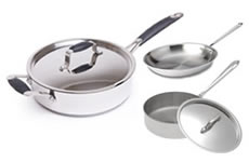 Stainless Steel frying & sauté pans